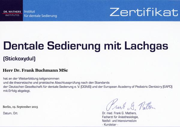 Dentale Sedierung mit Lachgas (2015-09-19)