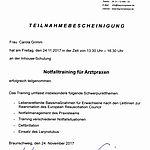 Notfalltraining: Grimm (2017-11-24)
