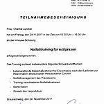 Notfalltraining: Junker (2017-11-24)