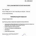 Notfalltraining: Katter (2017-11-24)
