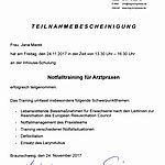 Notfalltraining: Marek (2017-11-24)