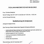 Notfalltraining: Westphal (2017-11-24)